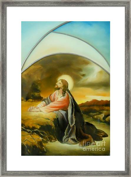 Prayer Of Jesus Framed Print