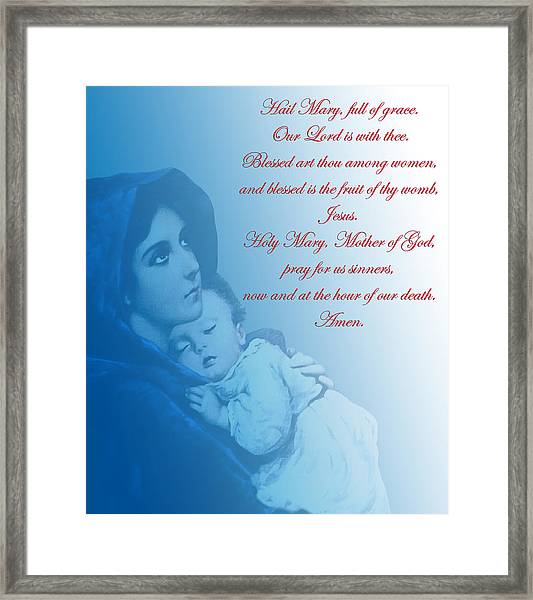 Prayer To Virgin Mary 2 Framed Print