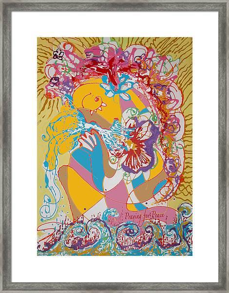 Praying For Peace Framed Print