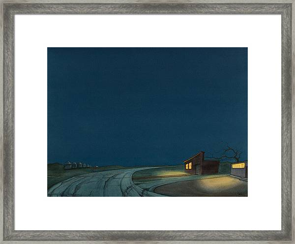 Framed Print featuring the painting Pre-dawn On The Hi-line I by Scott Kirby