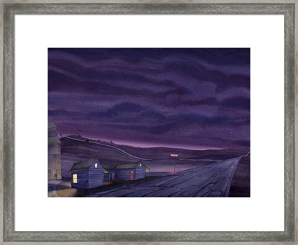 Framed Print featuring the painting Pre-dawn On The Hi-line Vi by Scott Kirby