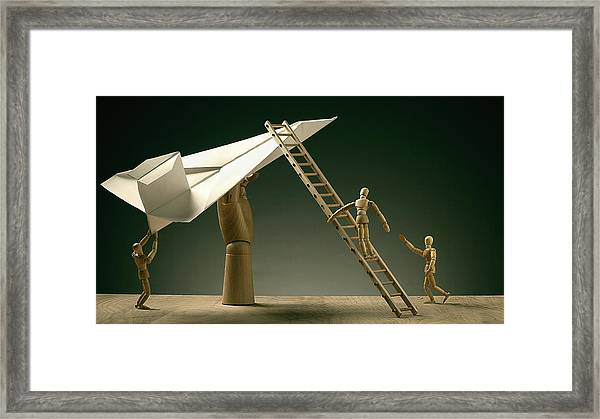 Pre Flight Inspection Framed Print