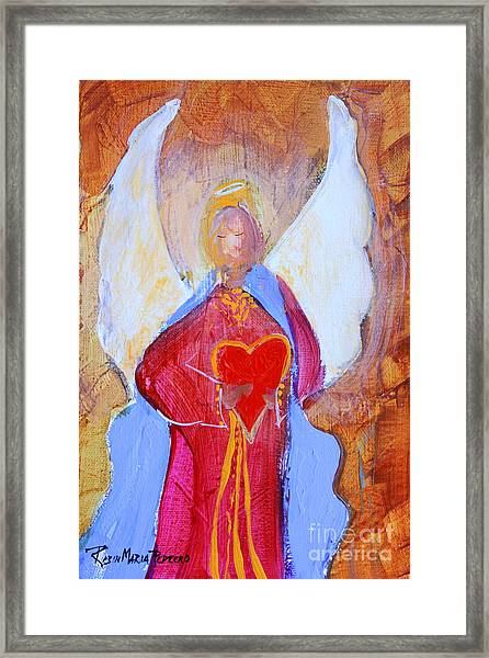 Precious Heart Angel Framed Print