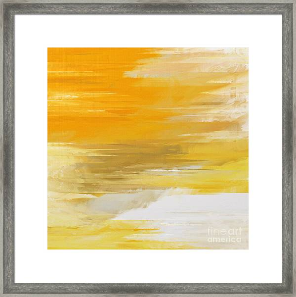 Precious Metals Abstract Framed Print