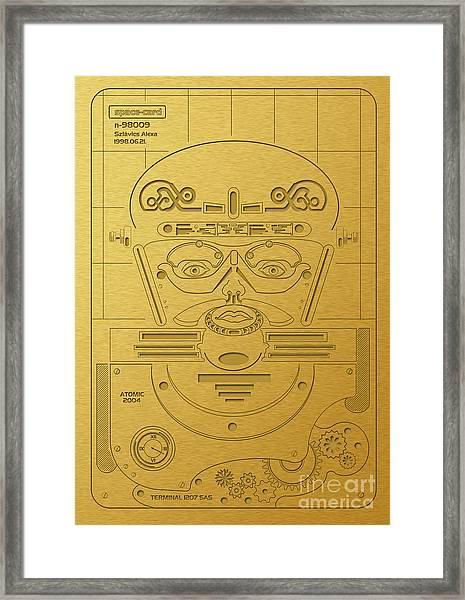 Prehistorical Astronaut Framed Print