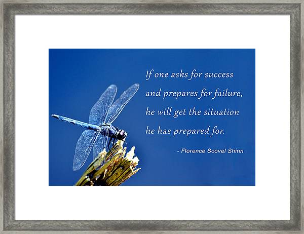 Framed Print featuring the photograph Prepare For Success by Beth Sawickie