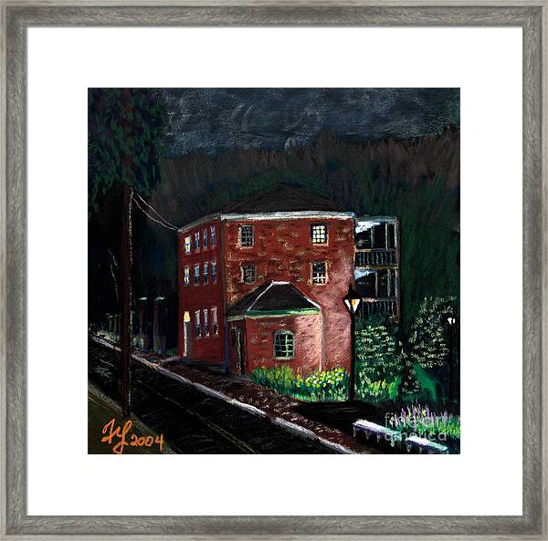 Prescott Park At Night Framed Print
