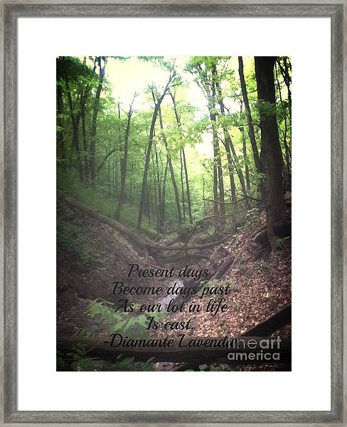 Present Days Become Days Past Framed Print