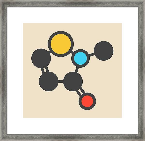 Preservative Molecule Framed Print by Molekuul