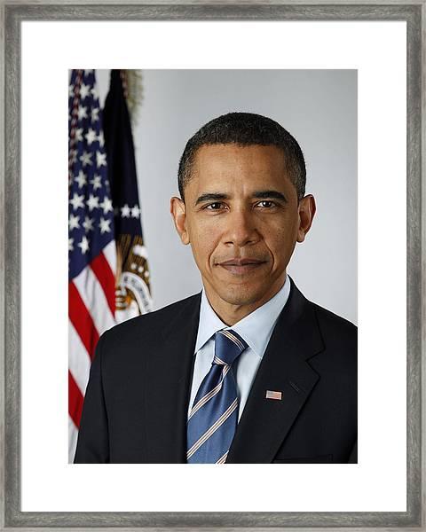 President Barack Obama Framed Print