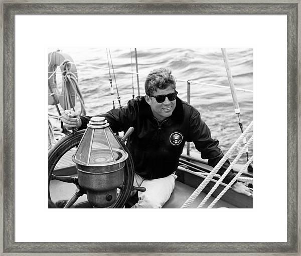 President John Kennedy Sailing Framed Print