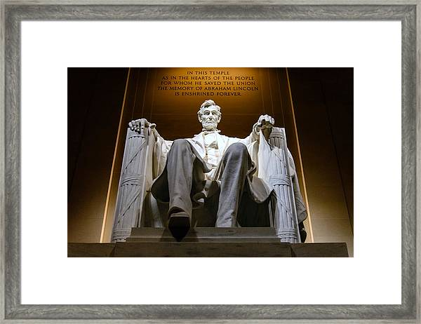 President Lincoln Framed Print