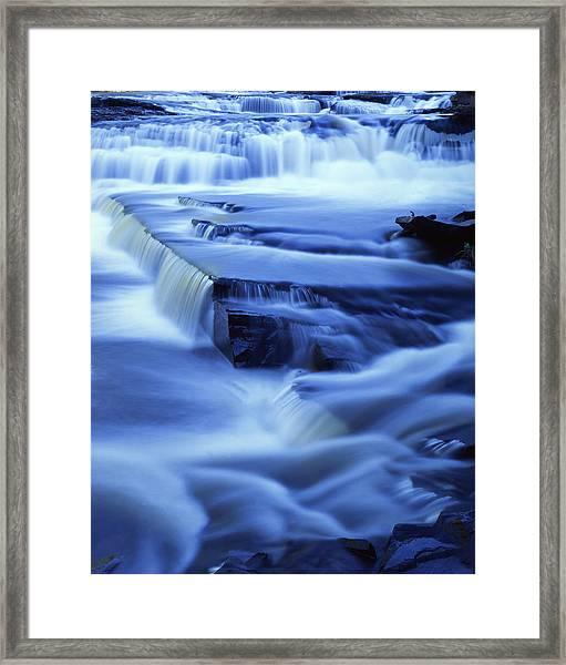 Presque Isle Falls Framed Print