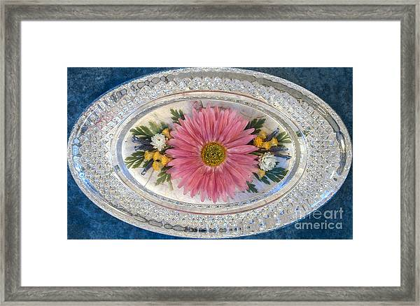 Pressed And Dried Flower Paperweight Framed Print