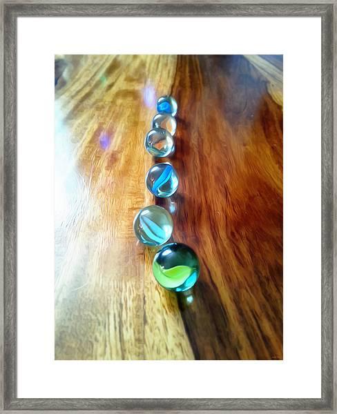 Pretty Marbles All In A Row Framed Print