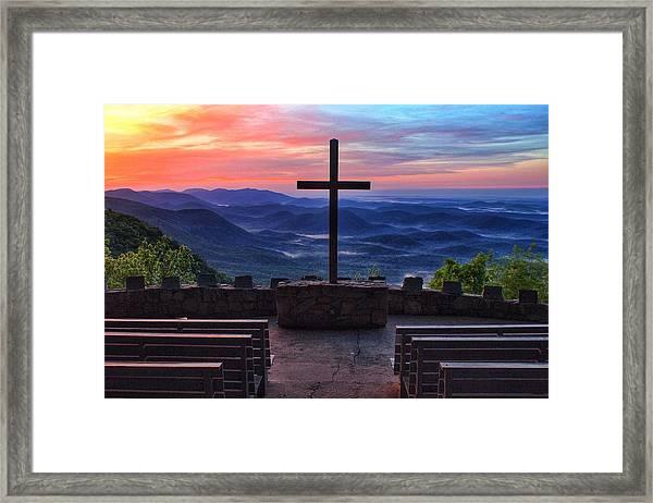 Pretty Place Chapel Sunrise Framed Print