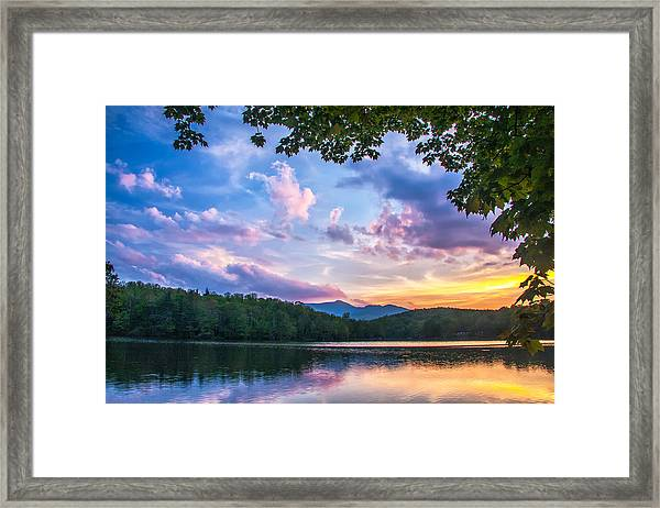 Price Lake Sunset Framed Print