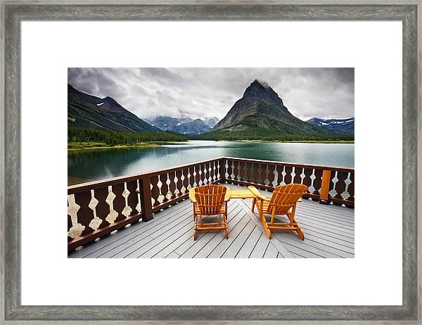 Priceless Glacier View Framed Print