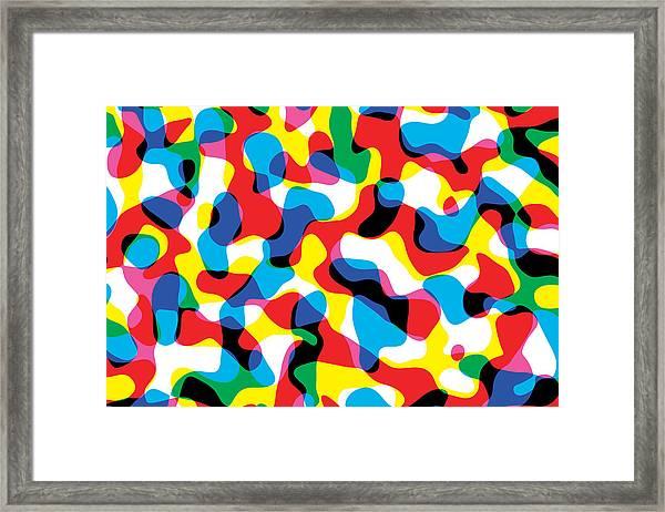 Primary Alsorts Framed Print