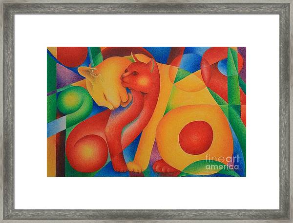 Primary Cats Framed Print