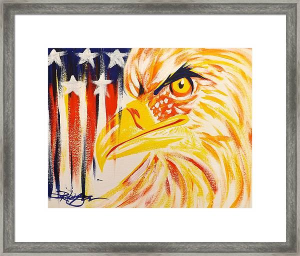 Primary Eagle Framed Print
