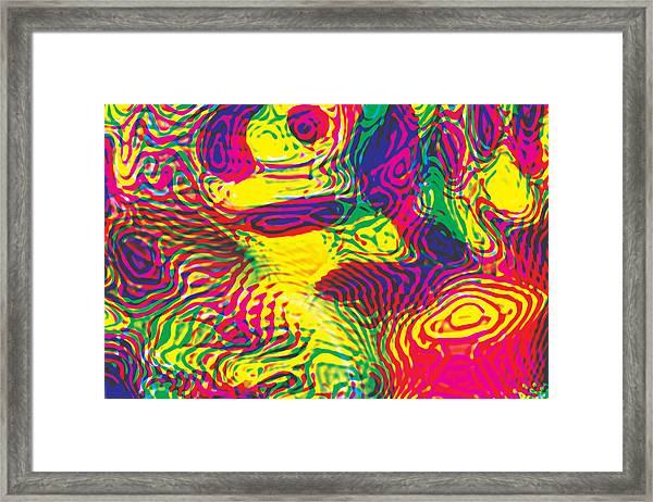 Primary Ripples Hot Framed Print