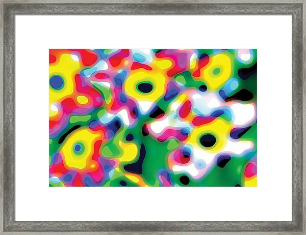 Primary Soft Centres Framed Print