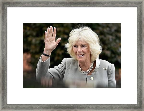 Prince Of Wales And The Duchess Of Cornwall's Irish Trip Day Three Framed Print by Jeff J Mitchell