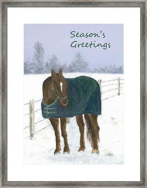Prince Seasons Greetings Framed Print