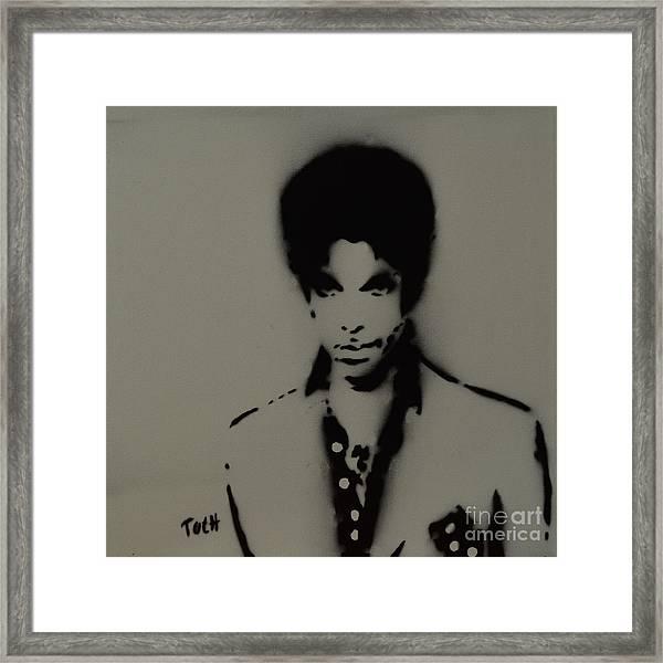 Prince Spray Art Framed Print