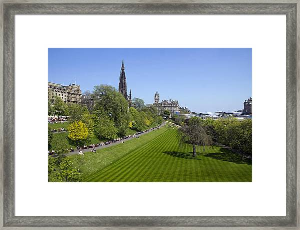 Princes Street Gardens Framed Print