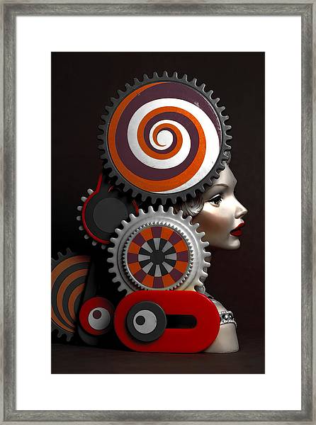 Princess And Contraption 2 Framed Print