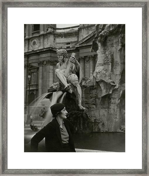 Princess Eugenio Ruspoli In Rome Framed Print