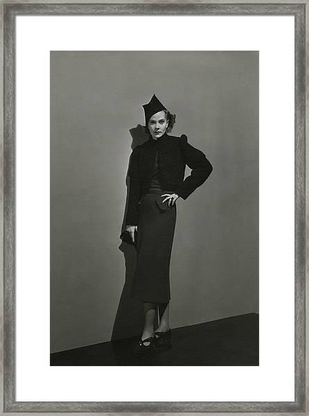 Princess Natalia Paley Wearing A Bolero Framed Print by Andre Durst