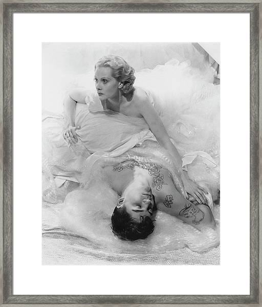 Princess Natalie Paley And Victor Kraft Framed Print by Cecil Beaton