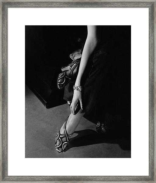 Princess Nathalie Paley Wearing Shoecraft Sandals Framed Print by Edward Steichen