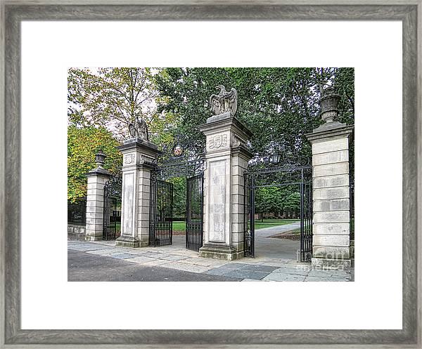 Princeton University Main Gate Framed Print