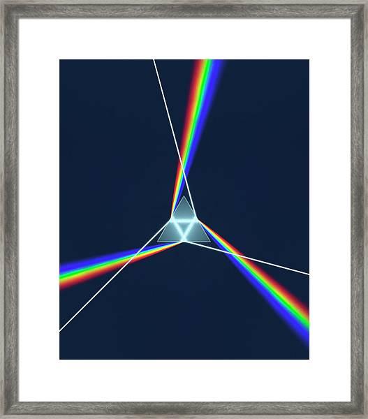 Prism And 3 Spectrums Framed Print by David Parker