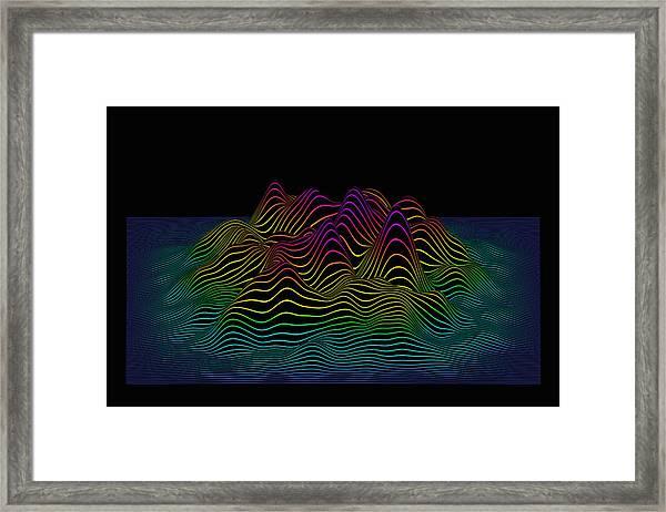 Prismatic Line Landscape Framed Print by Jorg Greuel