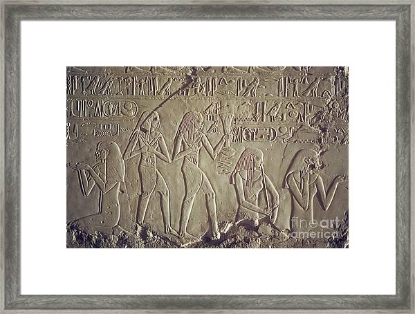 Private Tomb Of Kheruef Kheruf Cheriuf Tt 192 Asasif-stock Image-fine Art Print-valley Of The Kings Framed Print