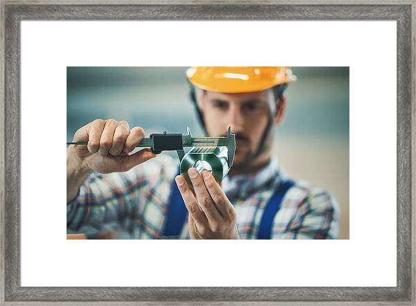 Product Inspection. Framed Print by Gilaxia