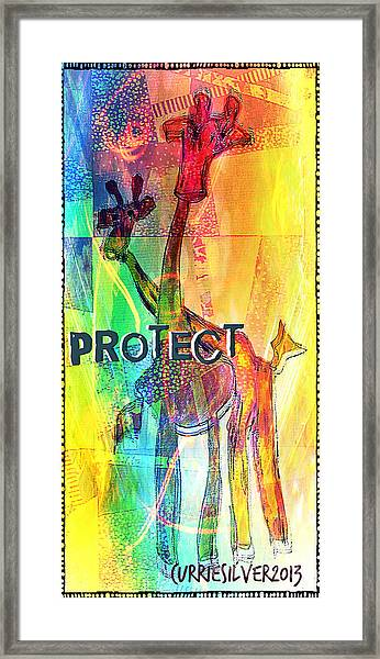 Protect Framed Print by Currie Silver