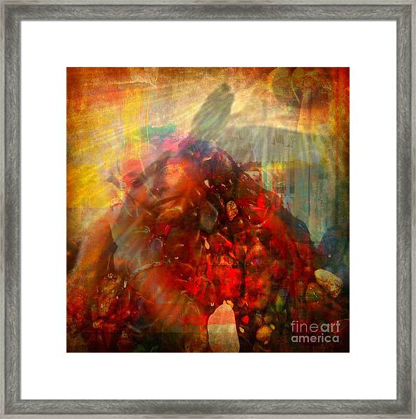 Protected - God Is Watching Evil Watching Me Framed Print by Fania Simon