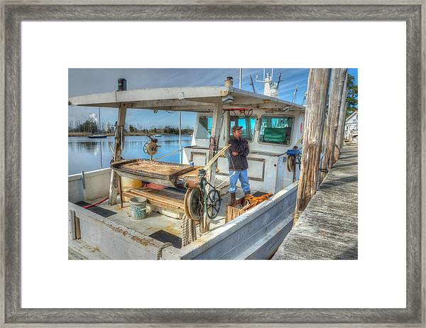 Framed Print featuring the photograph Proud Fisherman by Francis Trudeau