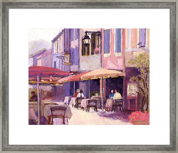 Provence Cafe Framed Print