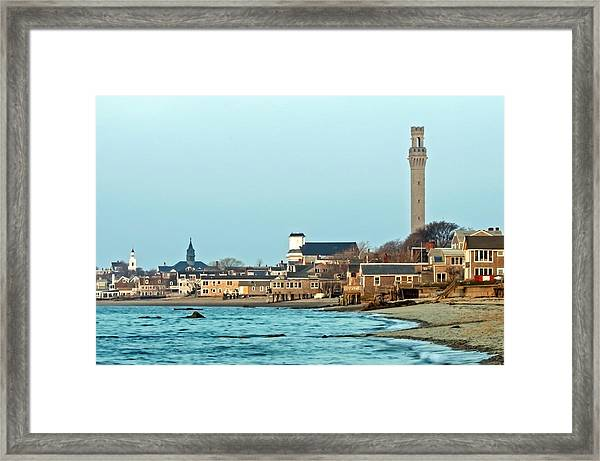 Provincetown Bay And Monument Framed Print
