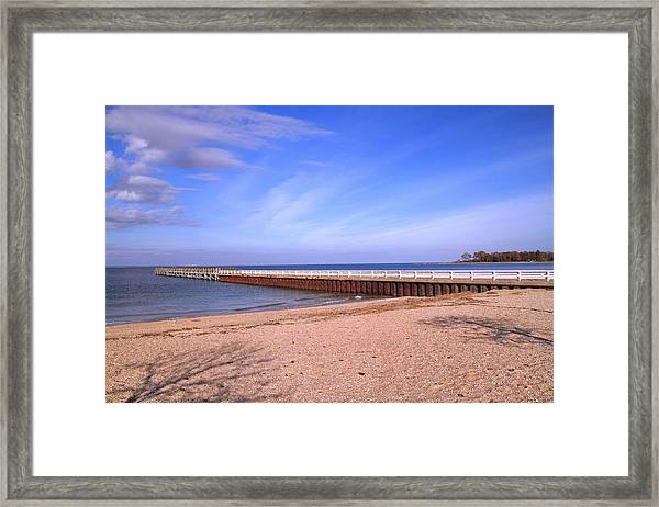 Framed Print featuring the photograph Prybil Beach Pier by Bob Slitzan