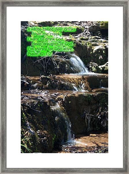 Psalm 42 Framed Print