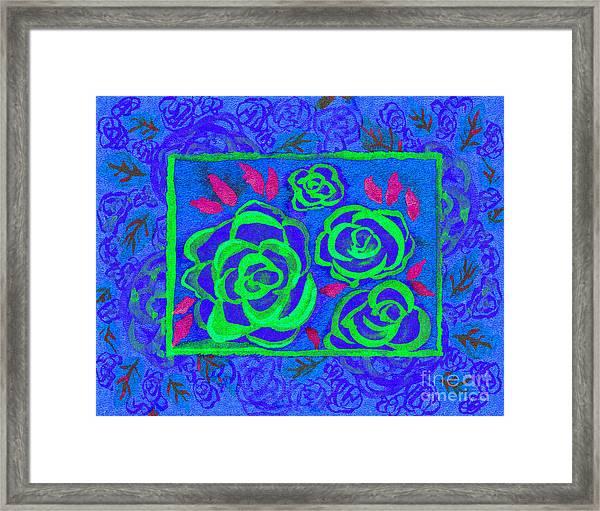 Psychedelic Roses - Summer Framed Print