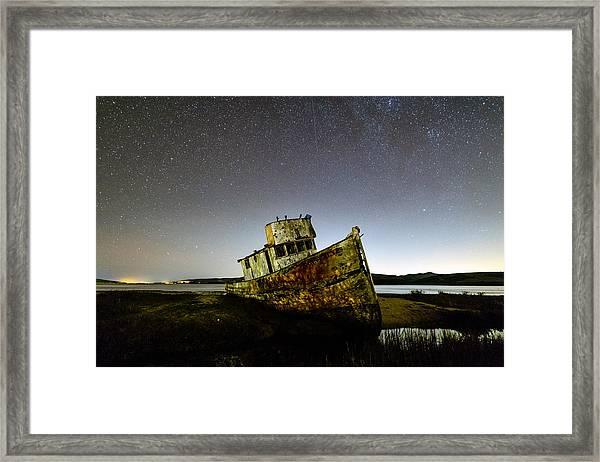 Pt Reyes Wreck Framed Print